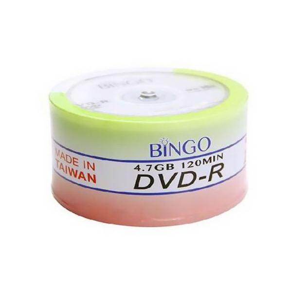 دی وی دی خام بینگو بسته ۵۰ عددی | Bingo DVD-R Pack of 50