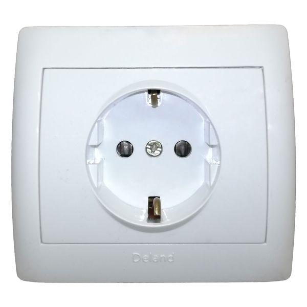 پریز برق محافظ دار دلند مدل آریا