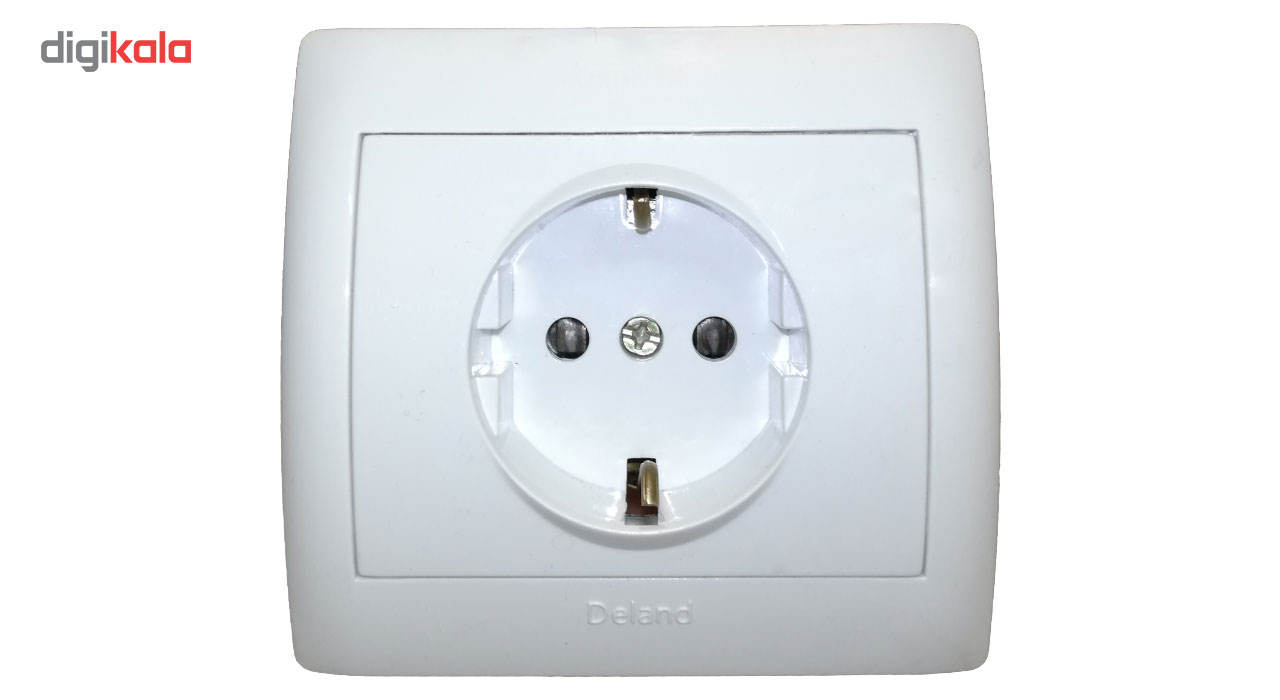 پریز برق محافظ دار دلند مدل آریا main 1 1