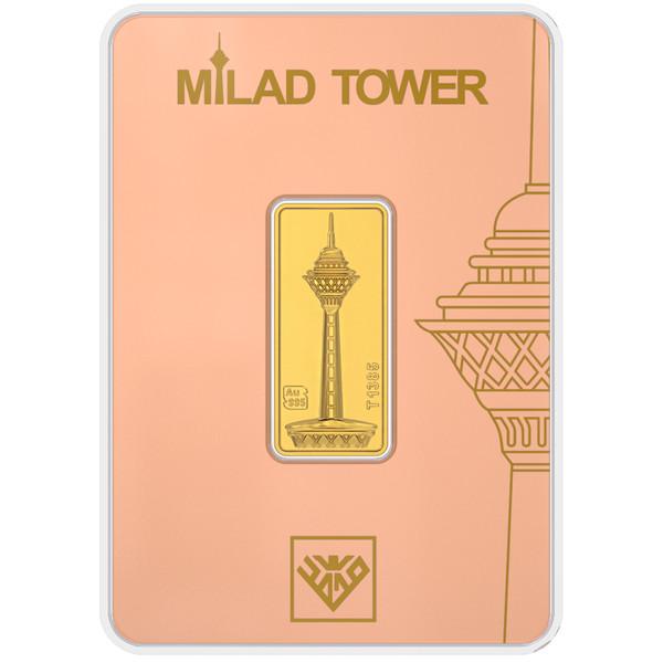 پلاک طلای 24 عیار طلای محمد مدل برج میلاد G2
