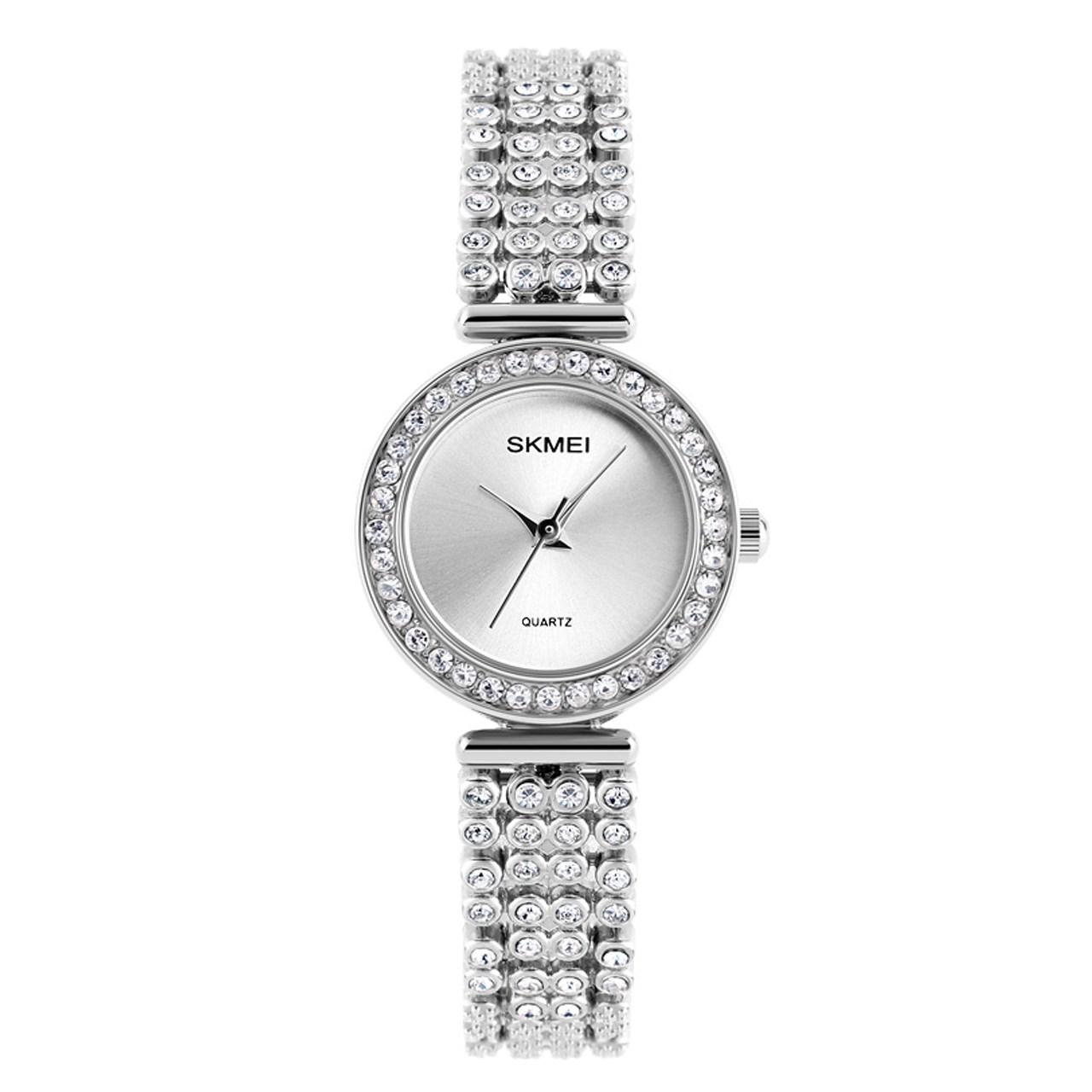 ساعت مچی عقربه ای زنانه اسکمی مدل 1224 نقره ای 11