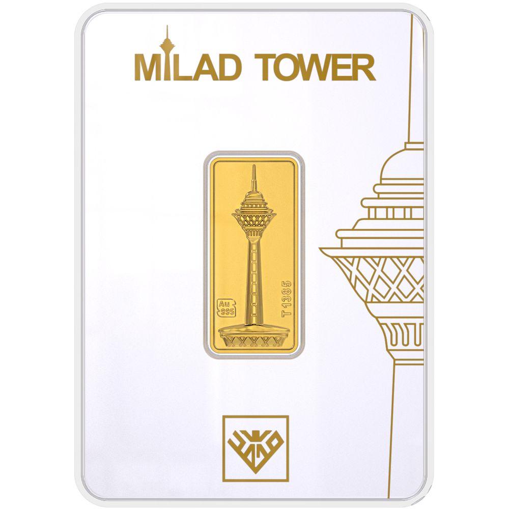 تصویر شمش طلا 24 عیار طلای محمد مدل برج میلاد G3