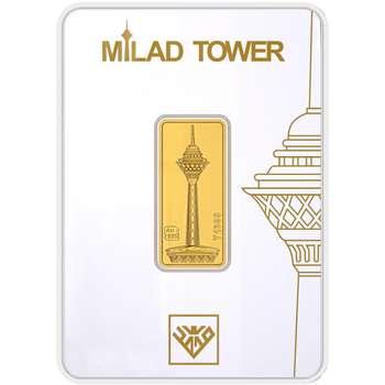 پلاک طلای 24 عیار طلای محمد مدل برج میلاد G3