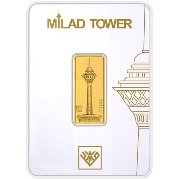 شمش طلا 24 عیار طلای محمد مدل برج میلاد G3