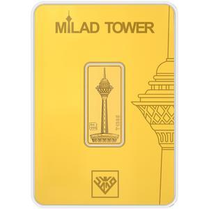 شمش طلا 24 عیار طلای محمد مدل برج میلاد G5