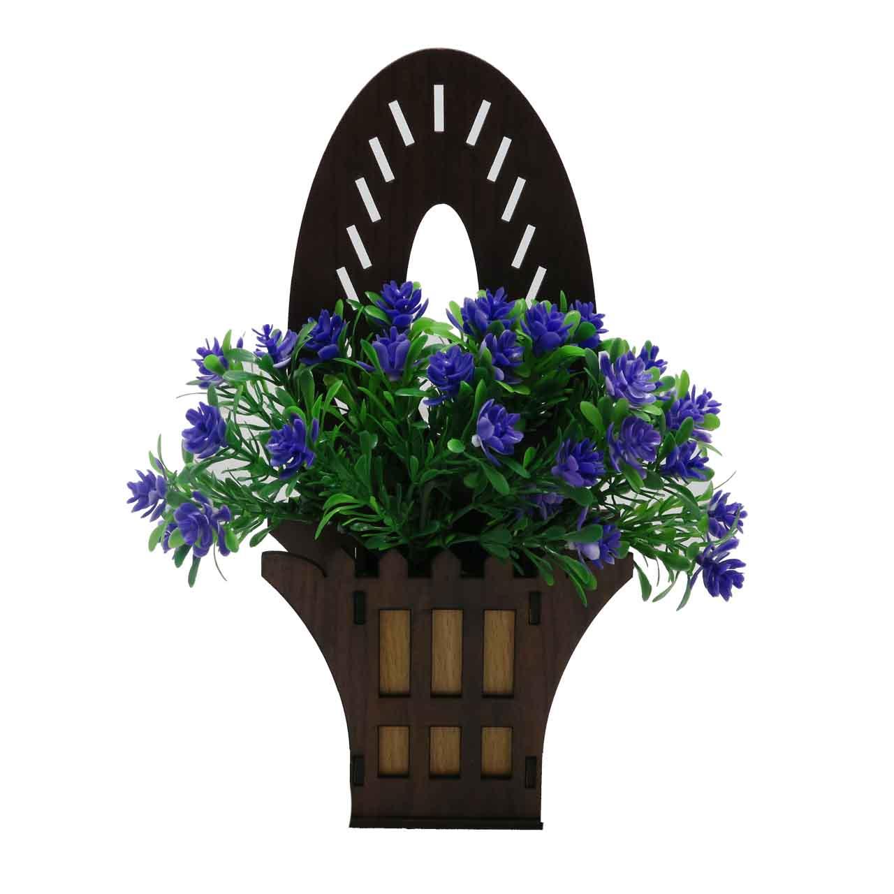 گلدان به همراه گل مصنوعی مدل سبد گل 504