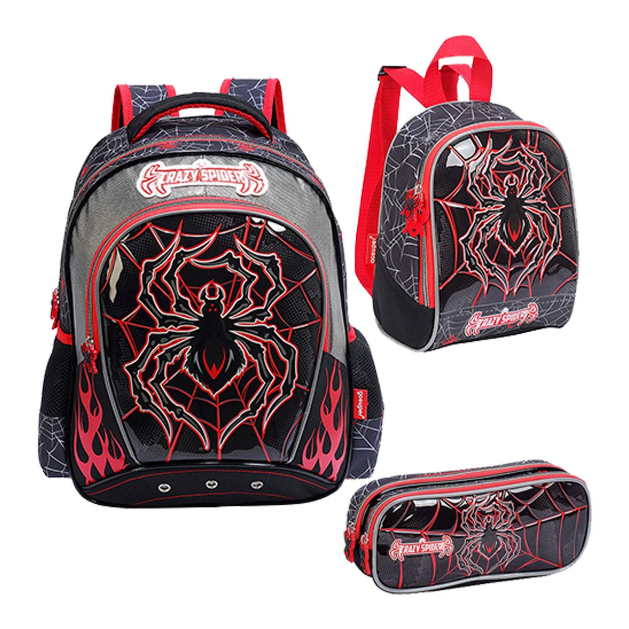 کیف و کوله پشتی مدرسه مدل Crazy Spider CCRS0802109 |