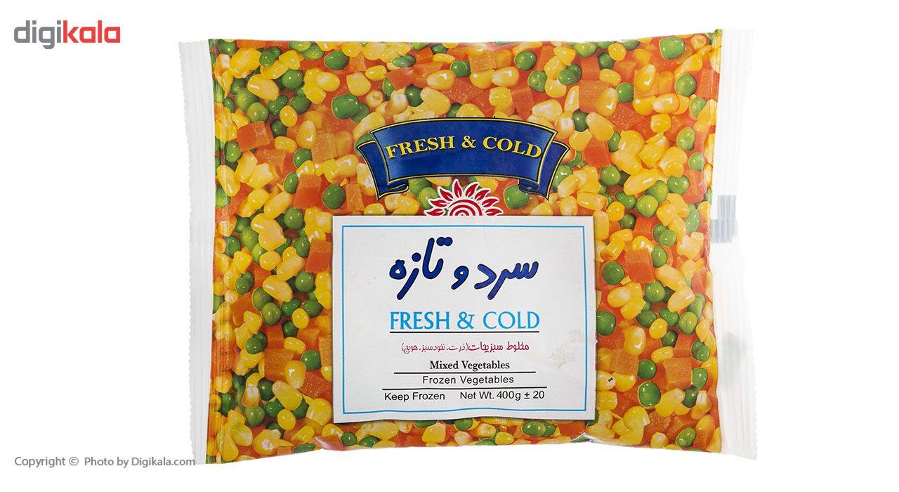 مخلوط سبزیجات منجمد سرد و تازه مقدار 400 گرم main 1 2