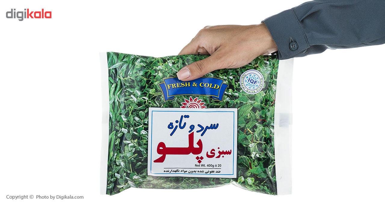 سبزی پلو منجمد سرد و تازه مقدار 400 گرم main 1 5