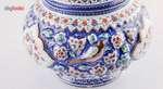 گزخوری مسی میناکاری طرح گل و مرغ اثر امینی نژاد کد 306001