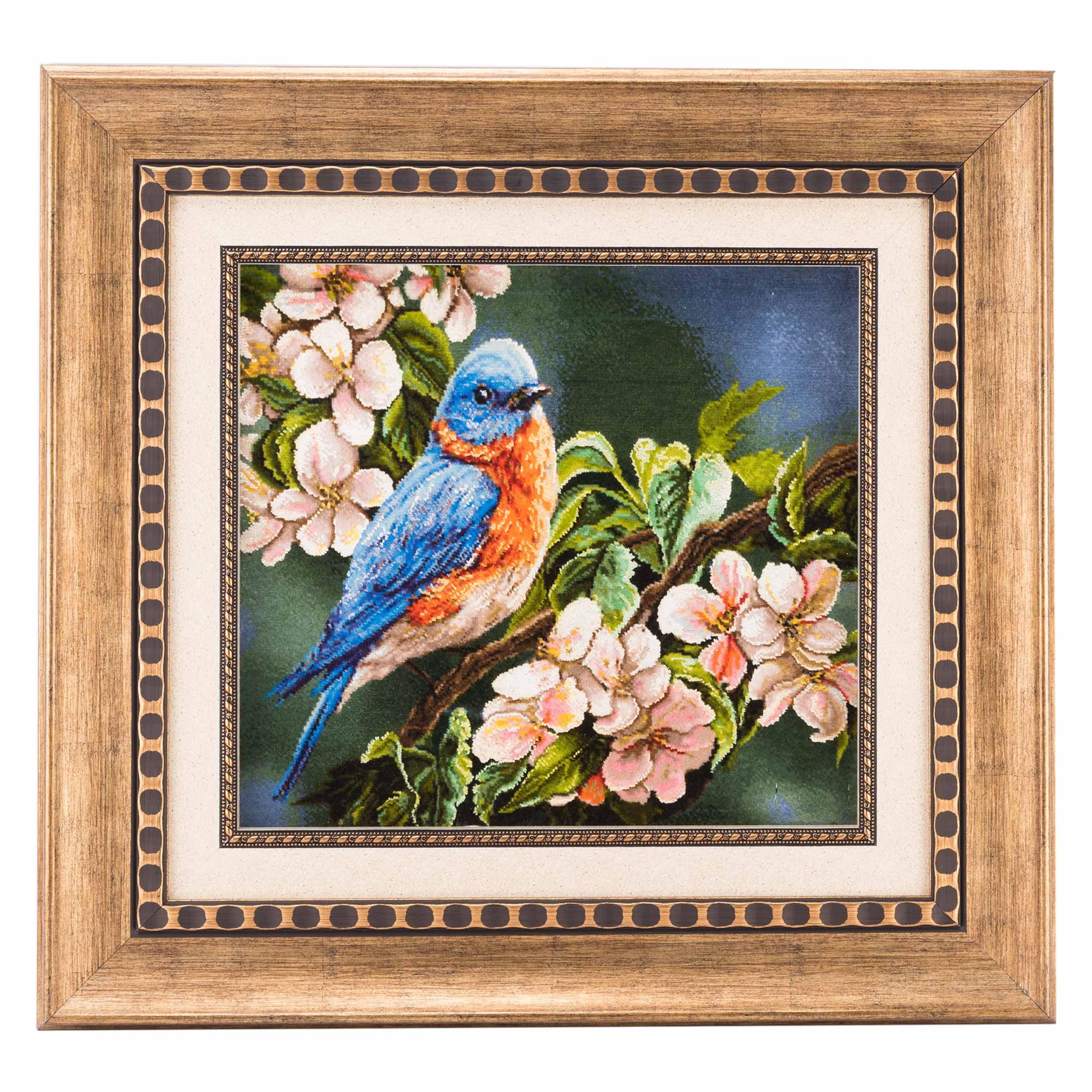 تابلو فرش دستباف پرنده سی پرشیا کد 901354