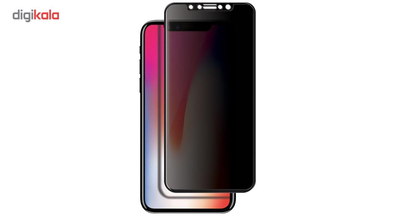 محافظ صفحه نمایش شیشه ای مدل Privacy Full Glue مناسب برای گوشی موبایل اپل آیفون X              ( قیمت و خرید)