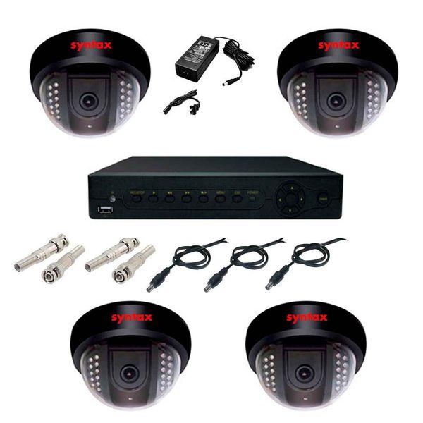 سیستم امنیتی مداربسته پک 4 دوربین مدار بسته سینتکس SX4004A   syntax 4004a dorbin madar baste pack
