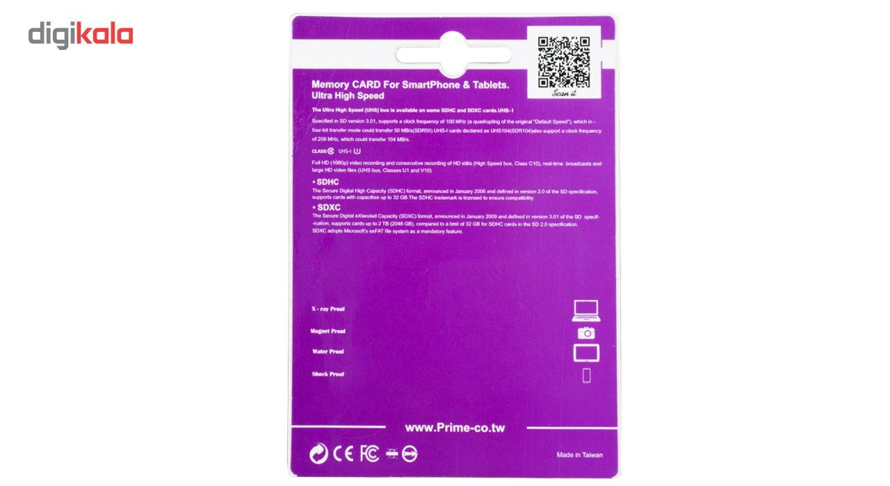 کارت حافظه microSDHC پرایم کلاس 10 استاندارد UHS-I U1 سرعت 85MBps همراه با آداپتور SD ظرفیت 32 گیگابایت main 1 3