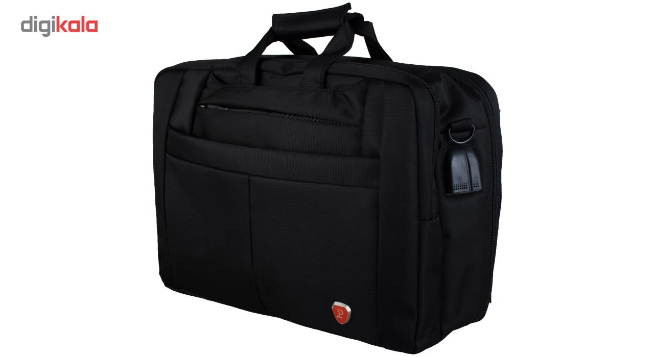 """کیف لپ تاپ سه کاره مدرن کیف پارسیان مدل P مناسب برای لپ تاپ های 17"""" اینچی"""