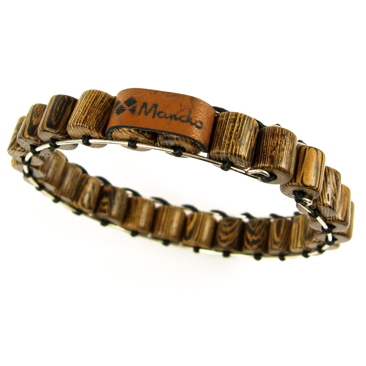 دستبند النگویی چوب مانچو مدل bf723