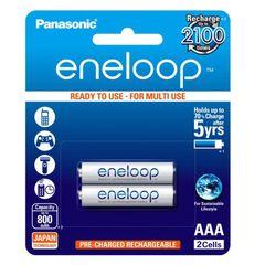 باتری نیم قلمی قابل شارژ پاناسونیک مدل eneloop بسته 2 عددی