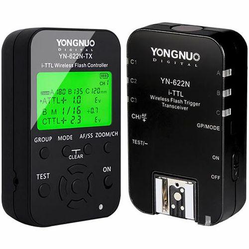 آداپتور فلش وایرلس یونگنو مدل  YN622N-KIT I-TTL مناسب برای دوربینهای نیکون