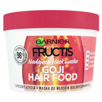 ماسک تقویت کننده مو گارنیه سری Hair Food مدل درخشان کننده حجم 390 میلی لیتر