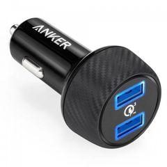 شارژر فندکی انکر مدل A2228 PowerDrive Speed 2 Ports With Quick Charge 3.0