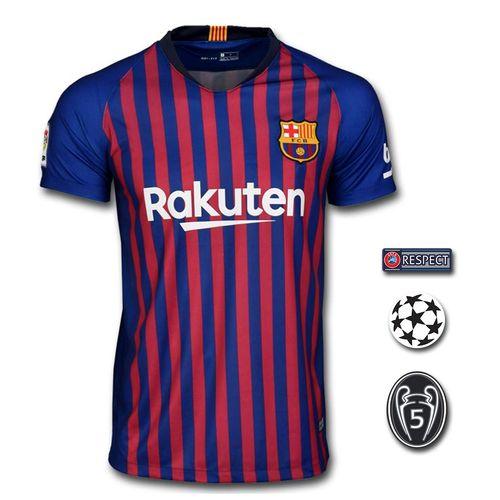 تیشرت ورزشی لیونل مسی مدل Barcelona-home-18/19 به همراه تگ