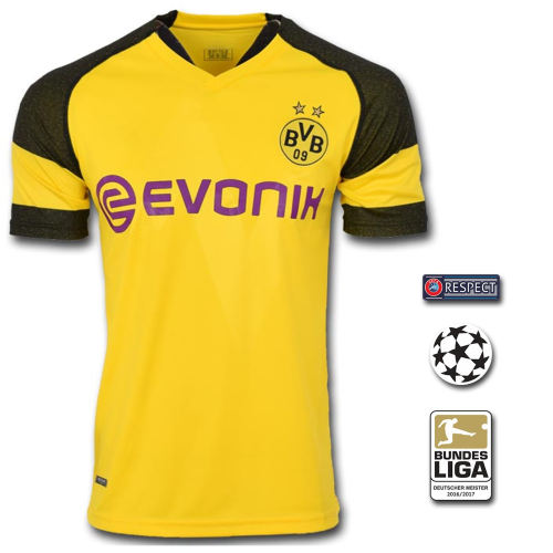 تی شرت ورزشی طرح رویس مدل Dortmund home 18/19 به همراه تگ