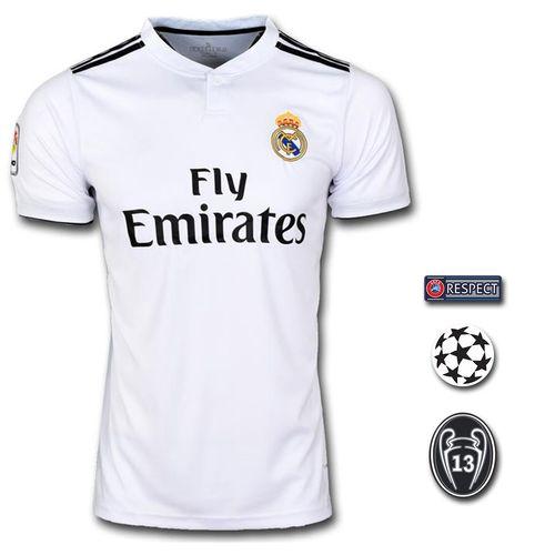 تی شرت ورزشی طرح کروس مدل Realmadrid home 18/19 به همراه تگ