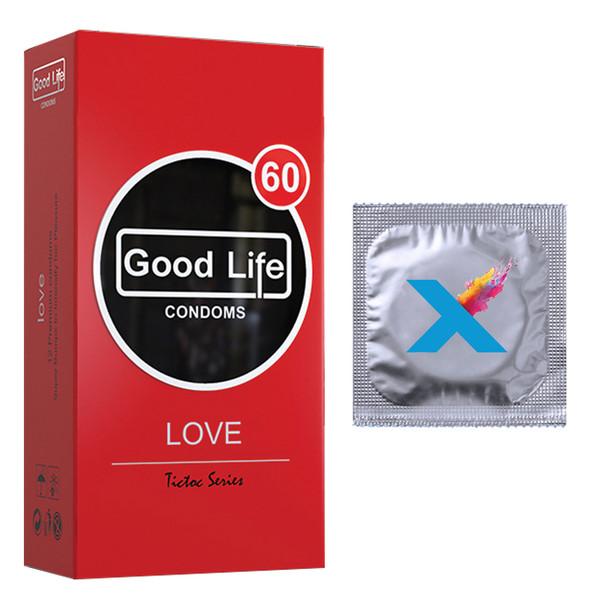 کاندوم گودلایف مدل LOVE بسته 12 عددی به همراه کاندوم مدل X تک عددی