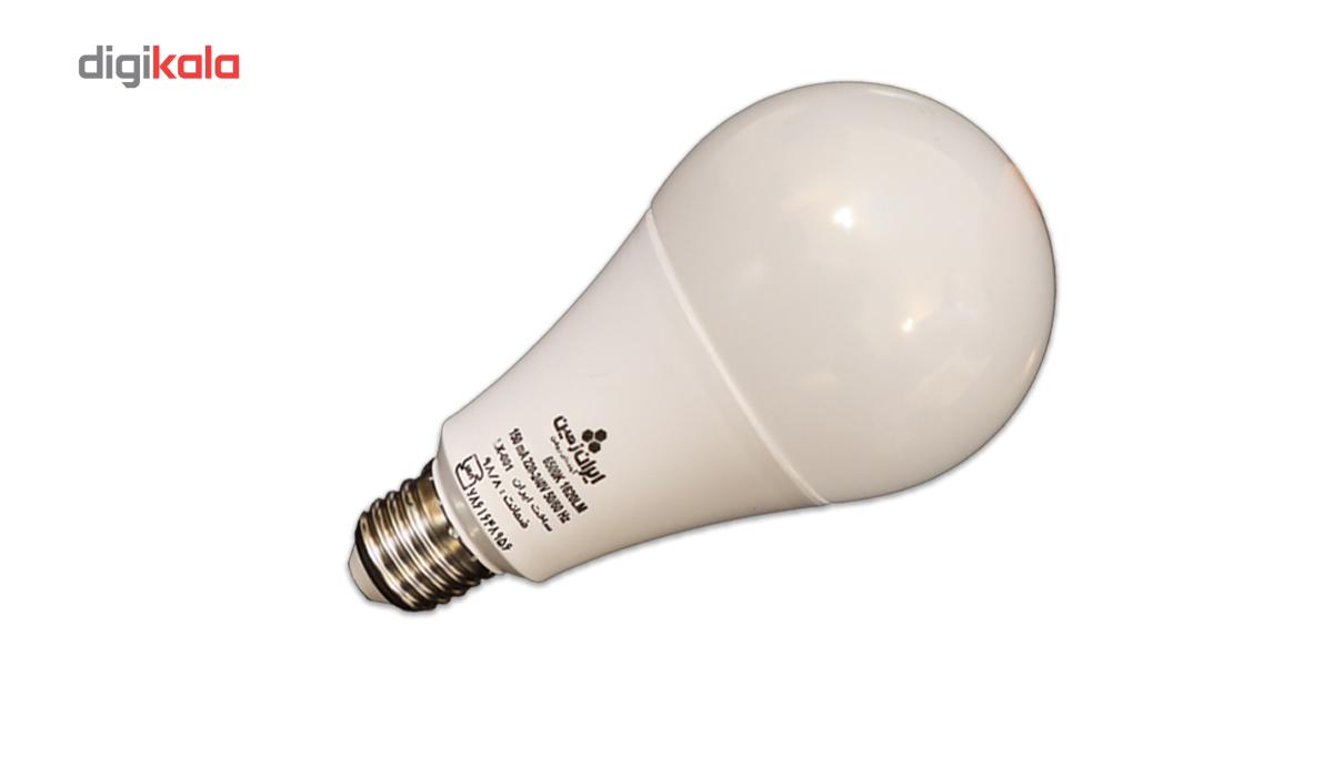 لامپ ال ای دی 18 وات ایران زمین مدل حبابی مهتابی پایه E27