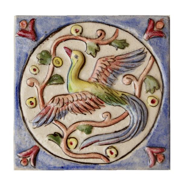 کاشی سفالی نادرسفال کد 1214 برجسته