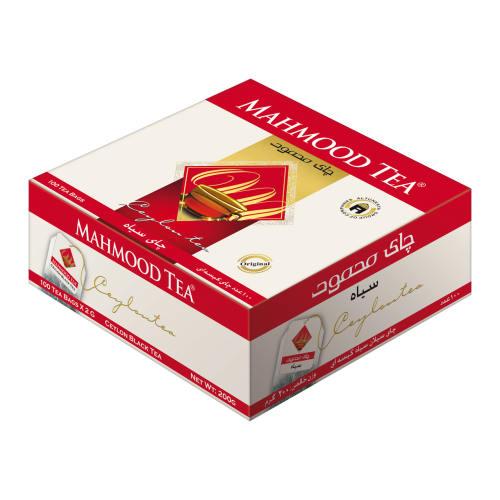 چای کیسه ای سیاه چای محمود بسته 100 عددی