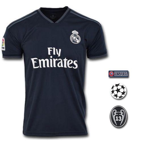 تی شرت ورزشی طرح کروس مدل Realmadrid Away 18/19 به همراه تگ