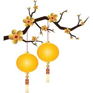 استیکر دیواری سالسو طرح chiness blossom