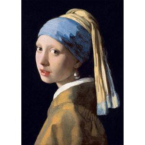 تابلو شاسی گالری هنری پیکاسو طرح دختری با گوشواره مروارید کد P0132