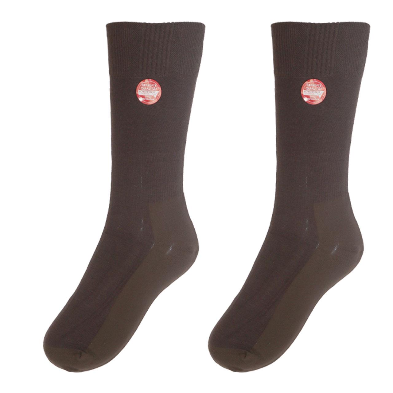جوراب مردانه نوردای مدل بامبو  مشکی 495554 بسته 3 عددی