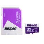کارت حافظه microSDHC پرایم کلاس 10 استاندارد UHS-I U1 سرعت 85MBps همراه با آداپتور SD ظرفیت 32 گیگابایت thumb