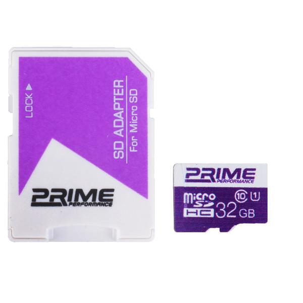 کارت حافظه microSDHC پرایم کلاس 10 استاندارد UHS-I U1 سرعت 85MBps همراه با آداپتور SD ظرفیت 32 گیگابایت