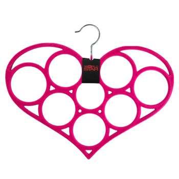 آویز شال و روسری مخمل مدل قلب کد130