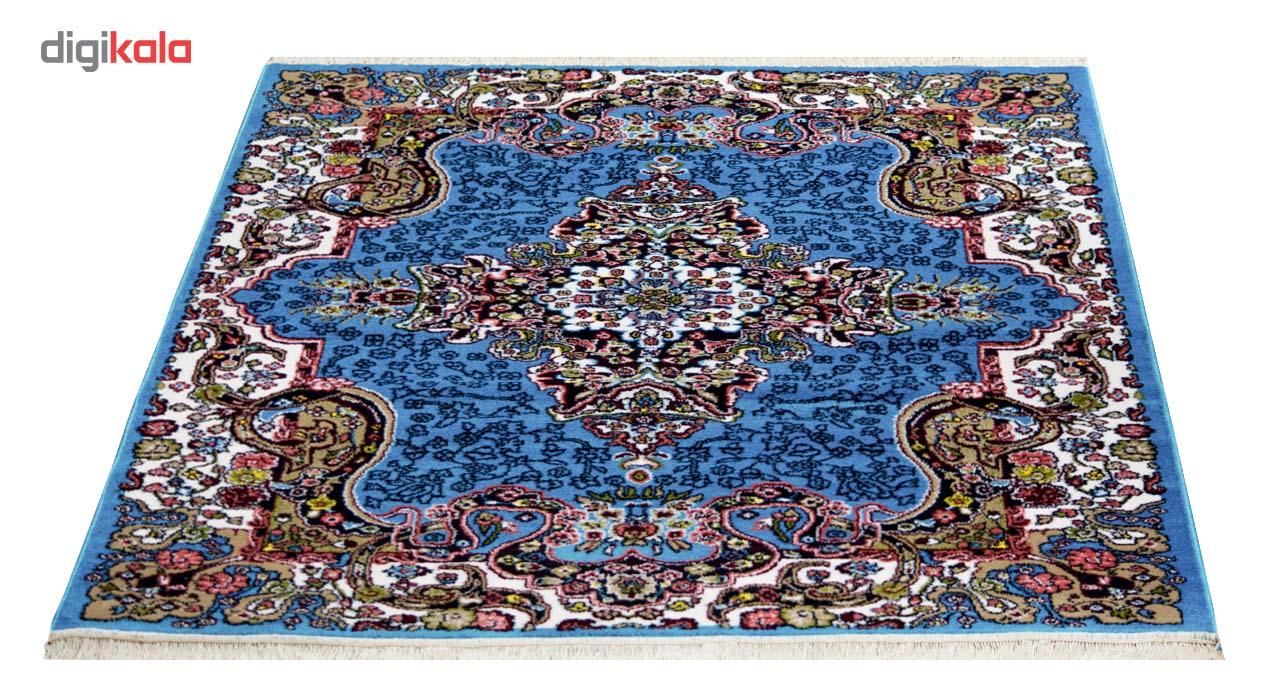 فرش ماشینی سهند کد UC03.QW زمینه آبی