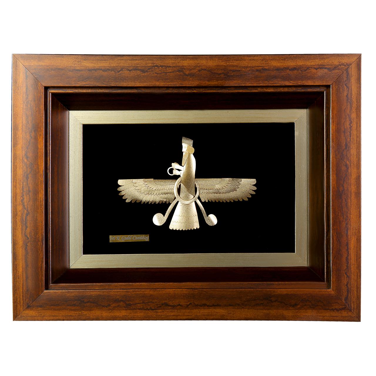 خرید                      تابلو طلا مدل فروهر کد 00018