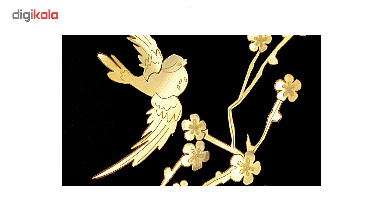 خرید                      تابلو طلا مدل درخت و پرنده کد 00020