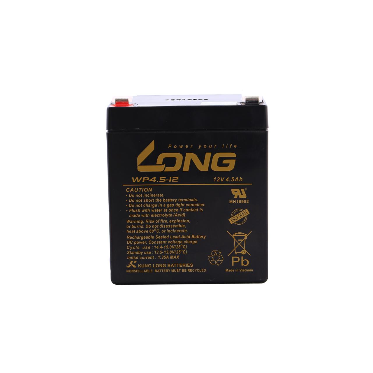 باتری 12 ولت 4.5 آمپر لانگ مدل WP4.5-12