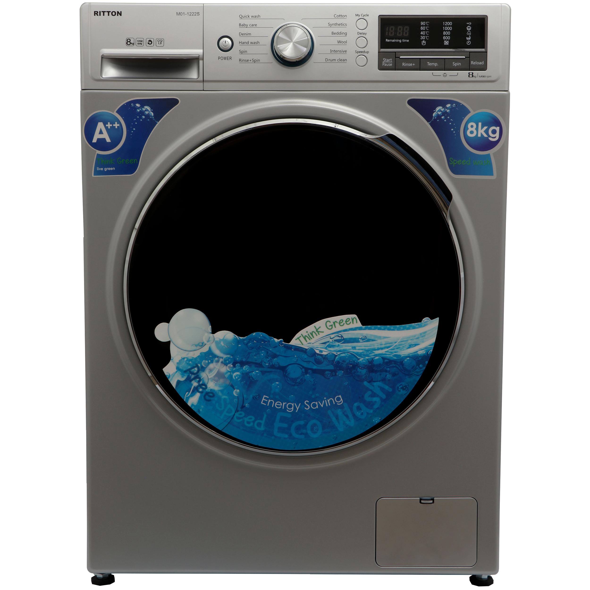 ماشین لباسشویی ریتون مدل M01-1222W با ظرفیت 8 کیلوگرم   Ritton  M01-1222W Washing Machine - 8 Kg