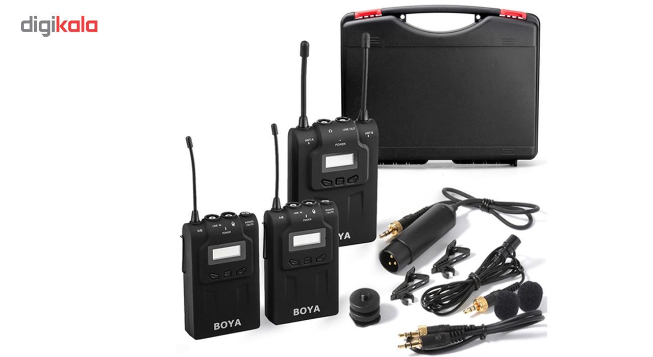 قیمت                      میکروفون بی سیم بویا مدل BY-WM8 Dual Channel UHF              ⭐️⭐️⭐️