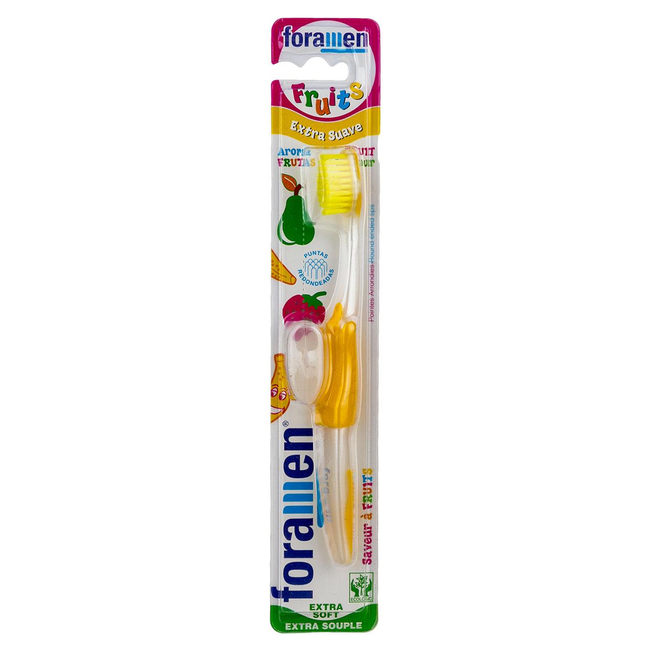 مسواک کودک فورامن مدل Fruits با برس خیلی نرم