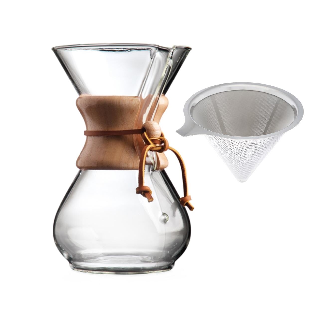 قهوه ساز  طرح کمکس مدل  6 کاپ به همراه فیلتر فلزی