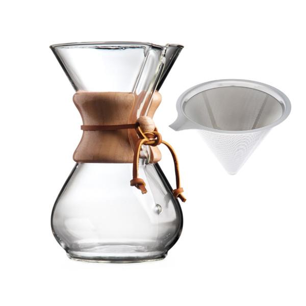 قهوه ساز مدل  6 کاپ به همراه فیلتر فلزی