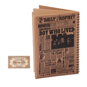 دفتر یادداشت 50 برگ بیگای استودیو مدل هری پاتر به همراه بوک مارک هدیه