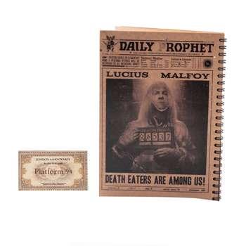 دفتر یادداشت بیگای استودیو مدل لوسیوس مالفوی به همراه بوک مارک هدیه