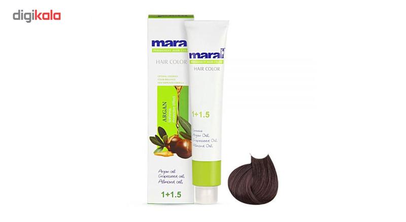 رنگ مو مارال سری دودی مدل قهوه ای دودی متوسط شماره 4.1